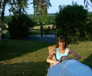 Massage bien-être insolite dans un jardin