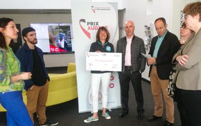 Gagnante du «Prix Audace 2018» à Rennes, concours pour les auto-entrepreneurs