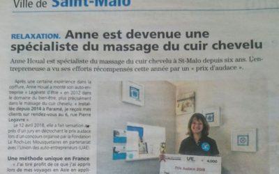 «Anne est devenue une spécialiste du massage du cuir chevelu» Le Pays Malouin