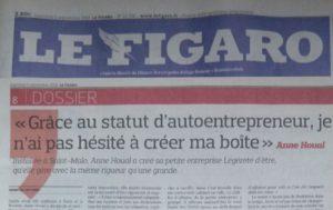 2018 09 05 Le Figaro : Installée à Saint-Malo, Anne Houal a créé Légèreté d'Être