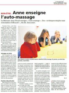 Le Pays Malouin du 21/02/19 : Anne enseigne l'auto massage