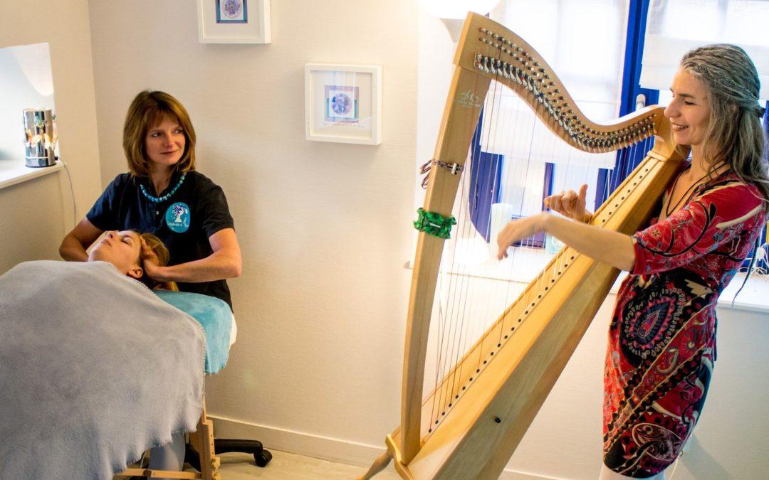 Massage bien-être avec harpiste