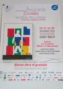 Affiche Festival Regards Croisés du 7 au 9 novembre 2019 Saint-Malo
