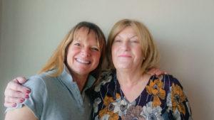 Anne Houal avec Mireille Malot Présidente et fondatrice de l'association L'Hippocampe