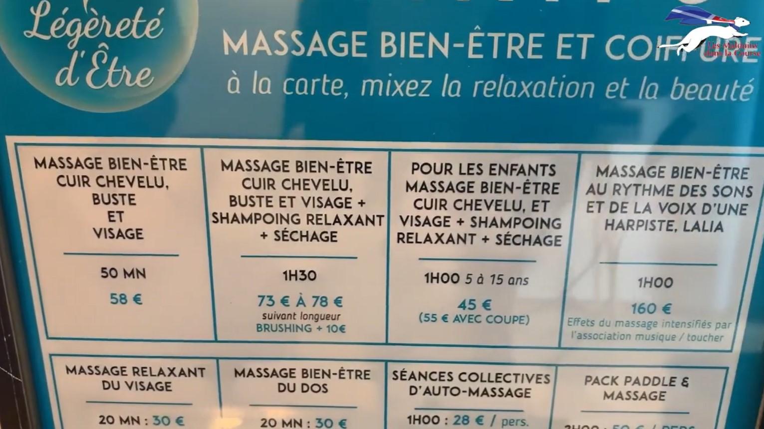 La carte des soins Massage bien-être adulte ou enfant, avec harpiste, Séances collectives d'auto-massage, Pack Sup & Massage