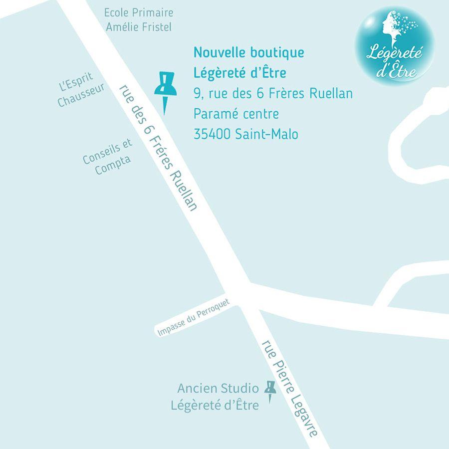 Plan Légèreté d'Être 9 rue des 6 Frères Ruellan 35400 Saint-Malo