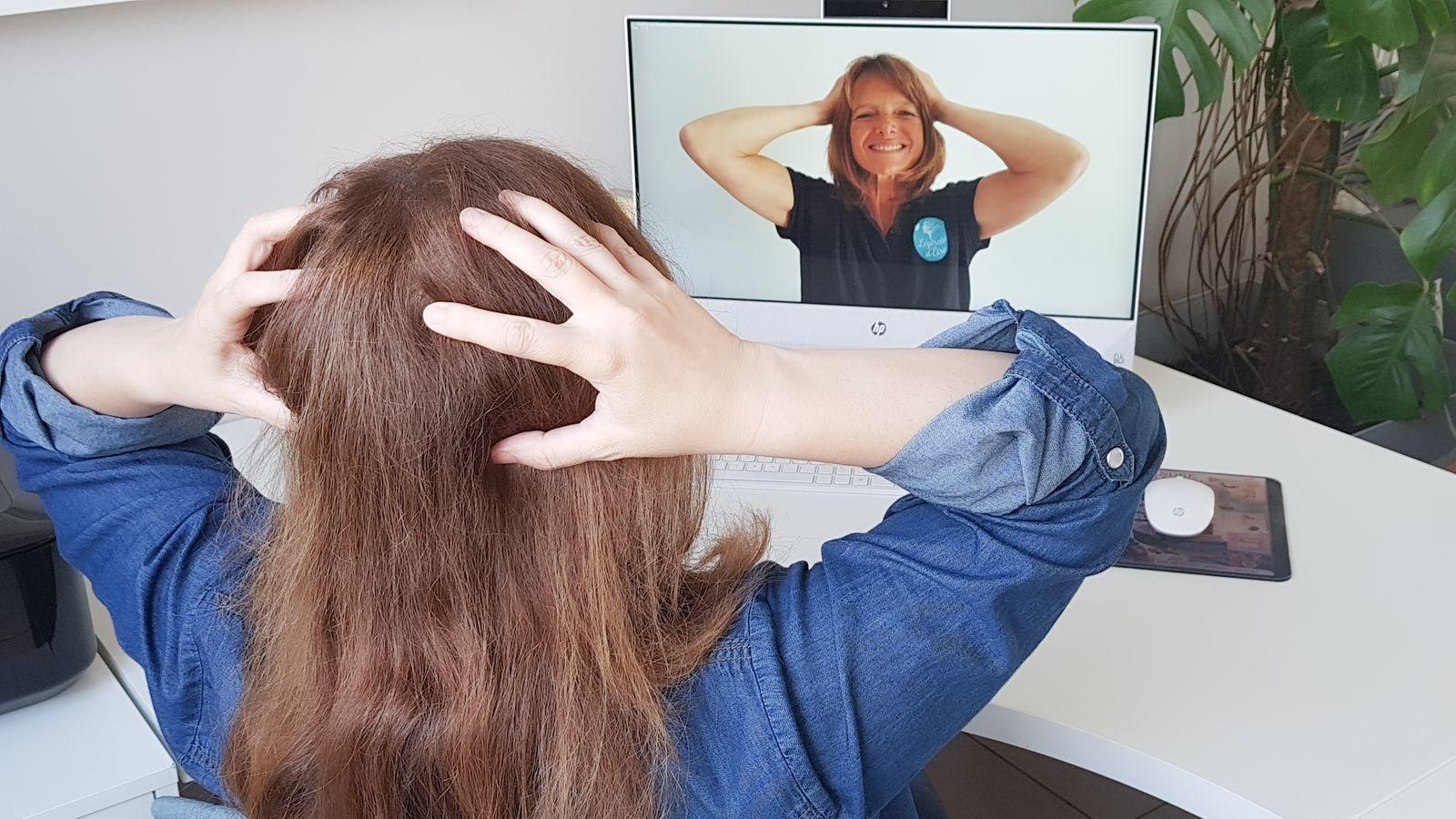 Atelier d'auto-massage en visioconférence par Légèreté d'Être
