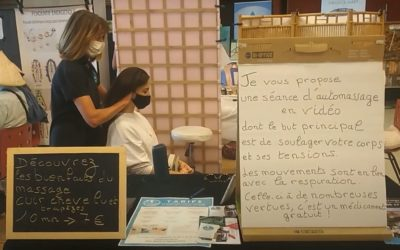 Atelier découverte du massage Légèreté d'Être au Salon Destination Bien-être de Saint-Coulomb