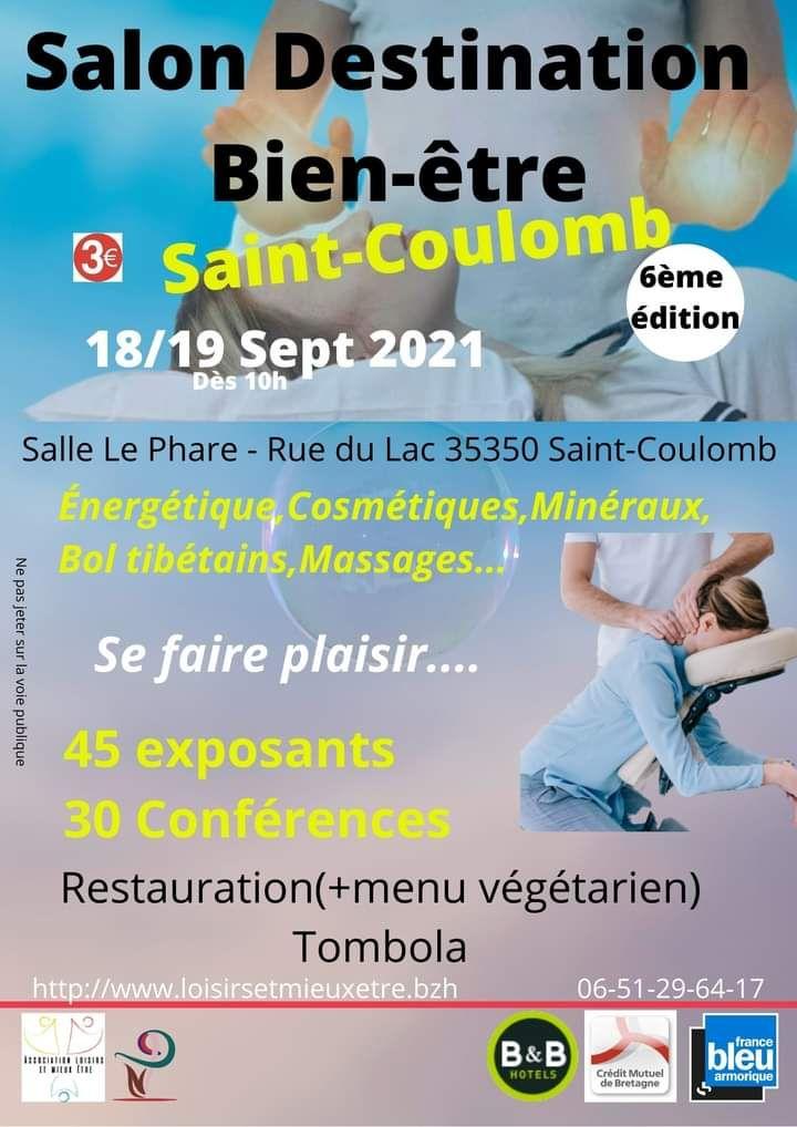 Salon Destination Bien-être à Saint-Coulomb les 18 et 19 septembre 2021